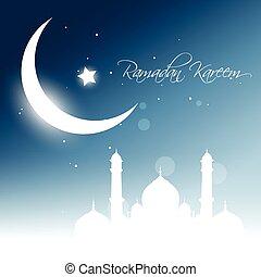 ramadan, kareem, vektor