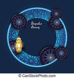 Ramadan kareem with islamic ornament background