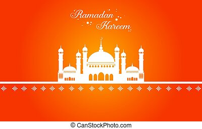 Ramadan Kareem with mosque greeting card  sc 1 st  Can Stock Photo : masjid door vector - pezcame.com