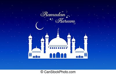 Ramadan Kareem with mosque style collection