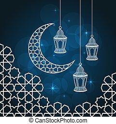 ramadan, karte, gruß