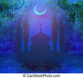 ramadan, karte, kareem