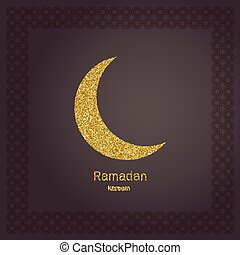 Invitation card for iftar invitation card with moroccan ornament ramadan kerim gold glitter moon template design for greeting card banner poster stopboris Gallery