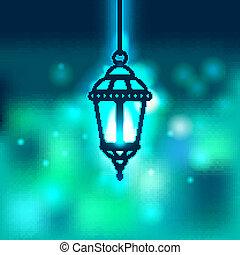 Ramadan lantern shiny background