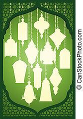 Ramadan lantern with islamic decora