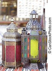 Ramadan lanterns in Doha market