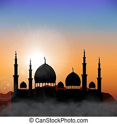 Ramadan Mosque Background