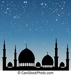 Ramadan Mosque Night Background