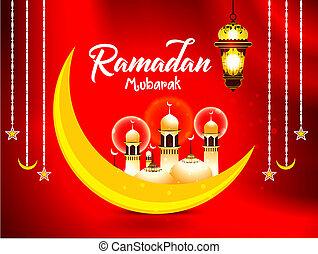 ramadan, mubarak, islamisch, hintergrund