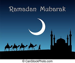 Ramadan mubarak. - Ramadan mubarak illustration.