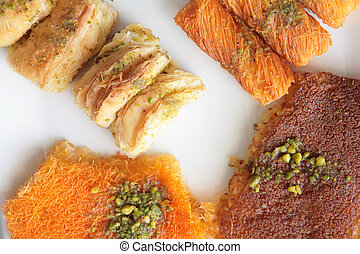 Ramadan pastries 2 - Close-up on traditional Middle Eastern...