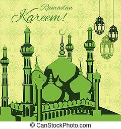 ramadan, plano de fondo, kareem