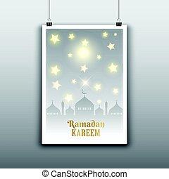 ramadan poster 1205 - Decorative hanging poster for Ramadan