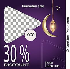 ramadan sale discount 50%,social media post