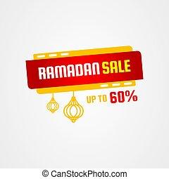 Ramadan sale vector illustration with fanoos lantern