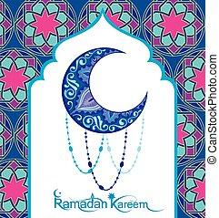 ramadan, tarjeta, kareem