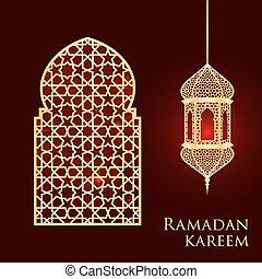 ramadan, tarjeta, saludo
