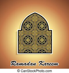 Ramadan themed islamic illustration
