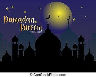 Ramadan vector background, with mosque vector.