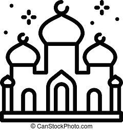 ramadan, vector, fiesta, o, mezquita, masjid, relacionado, ...