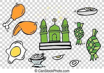Ramadhan Foods - Sketch - Hand Draw Sketch, Ramadhan (big...