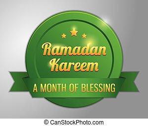 Ramadhan kareem badge