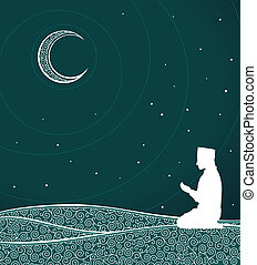 ramadhan kareem - moslem themed ormanent background,...