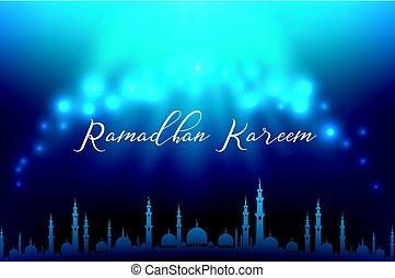 Ramadhan kareem muslim - Vector illustration of Ramadhan...