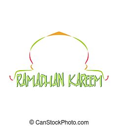 Ramadhan kareem with mosque