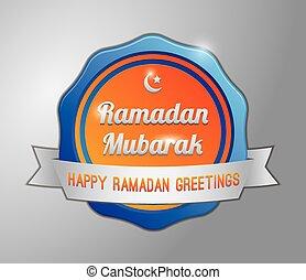 Ramadhan mubarak badge