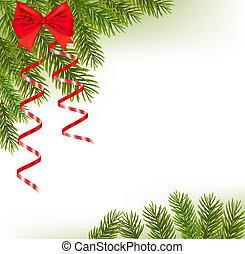 ramas, árbol de navidad