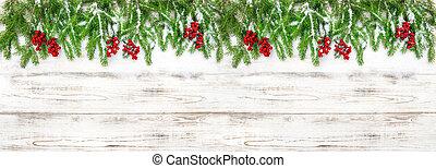 ramas, árbol, pino, vacaciones, decoración, plano de fondo, bayas, navidad, rojo