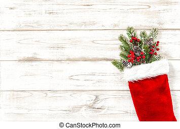 ramas, de madera, árbol, decoración, plano de fondo, navidad, rojo