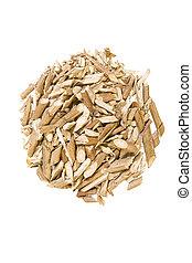 ramas secas, viburnum, (bark), plano de fondo, medicinal, blanco