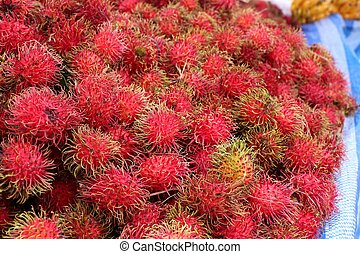 rambutan at street food