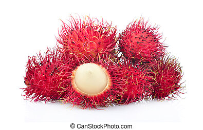 Rambutans isolated on white background