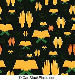 Ramdan Kareem seamless pattern background in vector