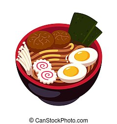 ramen, noodle, tigela