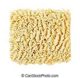 Ramen Noodles Uncooked - A block of uncooked Ramen Noodles ...