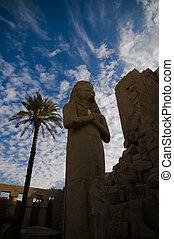 Rameses II statue at Temple of Amun, Karnak, Egypt.