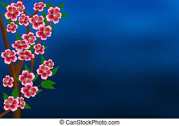 Fogli azzurro albero farfalle disegni cerca clip art for Albero con fiori blu