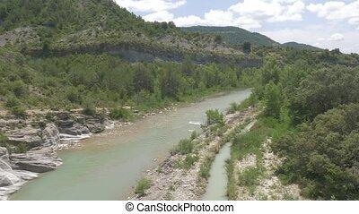 ramillar, de, -, pyrénées, version, barranco, rivière, espagne, indigène