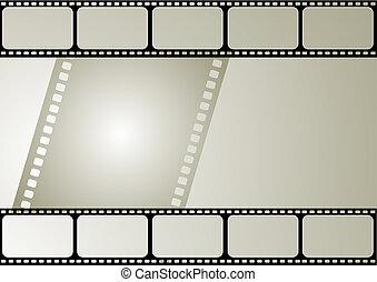 ramme, vektor, film