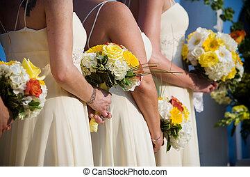 ramo, boda, floreza arreglo