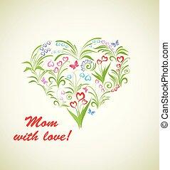 ramo, con, hermoso, flores del resorte, para, día madres