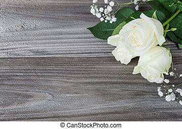 ramo, de, blanco subió