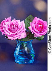 ramo, de, fresco, rosas rosa