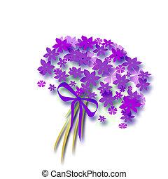 ramo de la flor, 3d