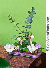 ramo, flores, moderno, tienda