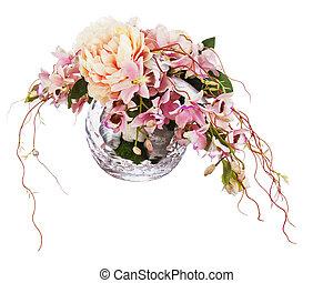 ramo, peón, flores, orchids.